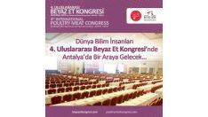 4. Uluslararası Beyaz Et Kongresi 26-30 Nisan Antalya
